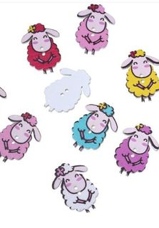 4x Sheep Buttons