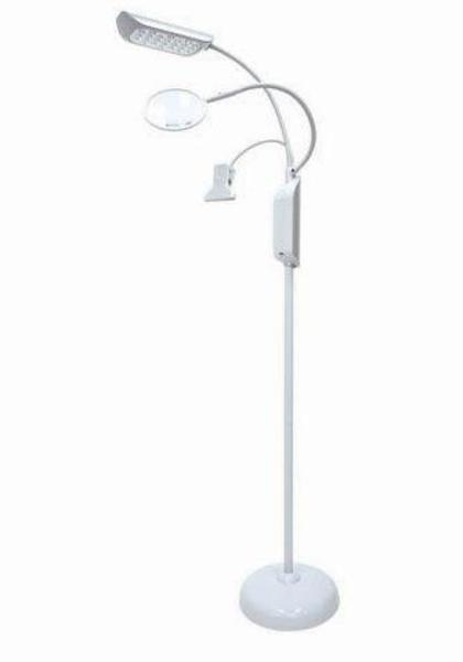 LED Floor Lamp with Magnifier